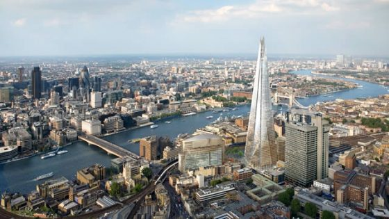 London is one of the top three places to stay