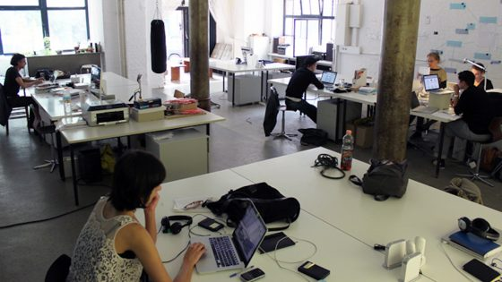 A co-working space full of people; new COWORKIES platform allows business networking