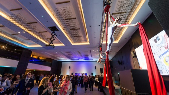 Guests are entertained at the Hilton Bankside launch