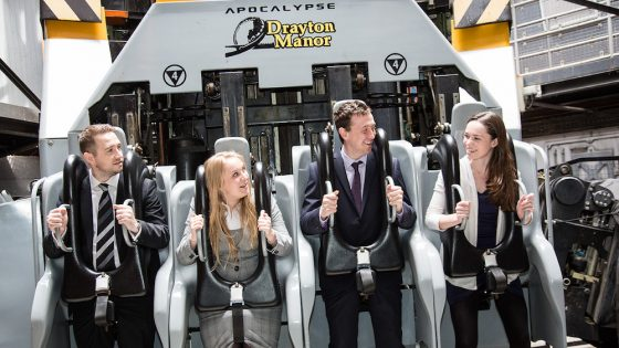 Delegates on a ride at Drayton Manor Park