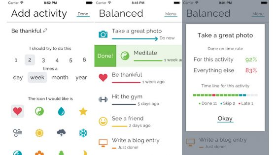 Balanced app on iPhone