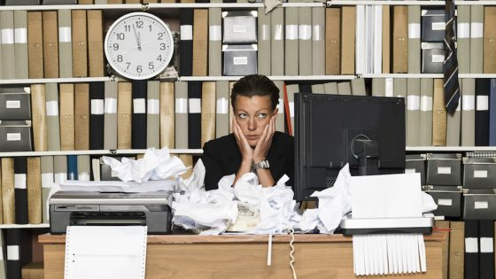 A messy desk could hurt your chances of a promotion