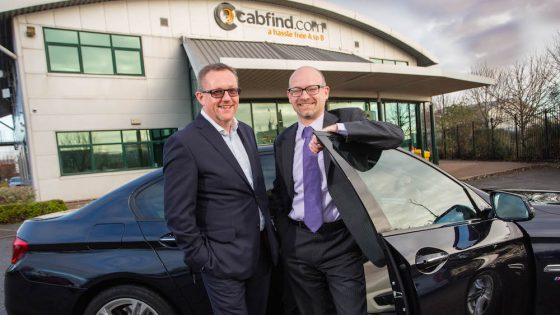 Clive Wratten, CEO of CTI and Michael Luddington, Finance Director of Cabfind