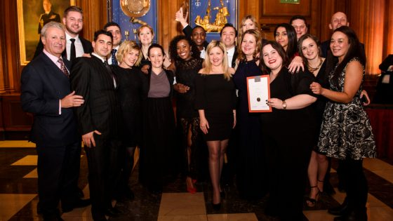 The 30 Euston Square team with their Searcys Values Award