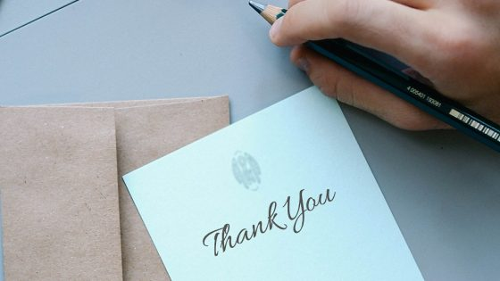 Tips for writing the perfect thank you letter