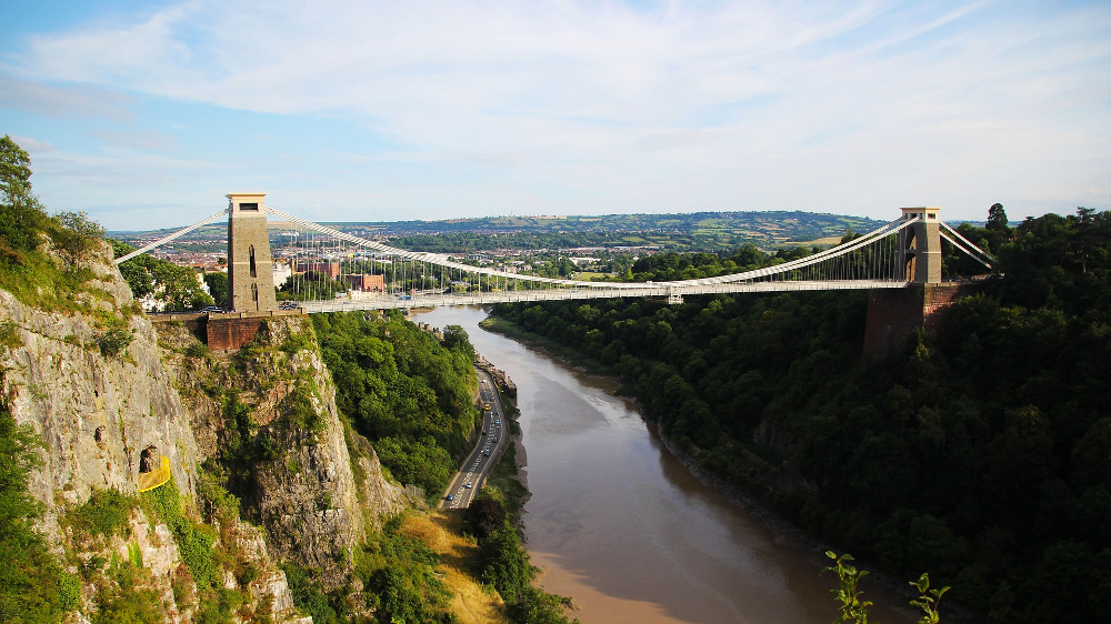 The famous Clifton Suspension Bridge in Bristol