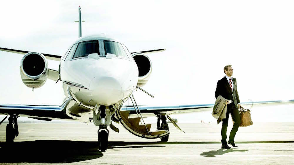 Private jet travel is on the up in the UK