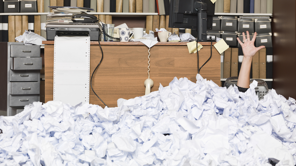 No need to get buried under paperwork, as paper use has reduced in half of all businesses