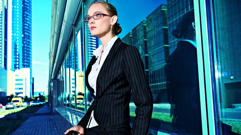 Woman enjoying career success