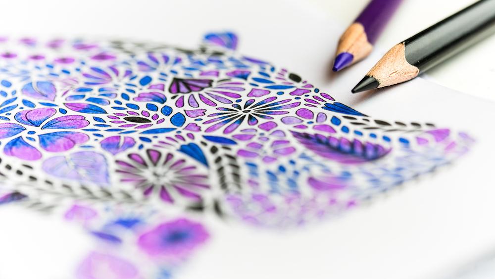 Adult colouring books – Credit: Kim Faires