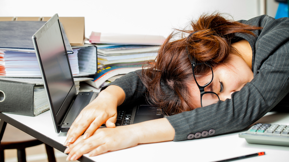 Employees admit to catching up on sleep at the office