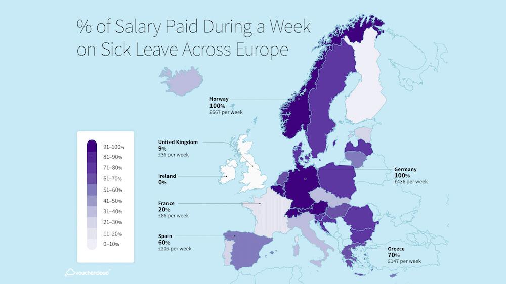 Sick pay map from vouchercloud