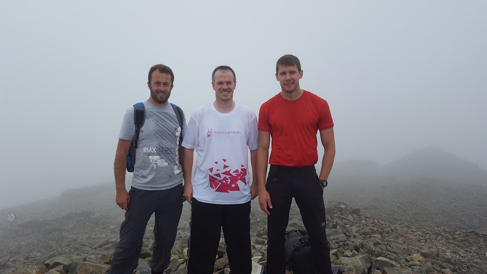 Meeting Needs team at the summit of one of the three peaks