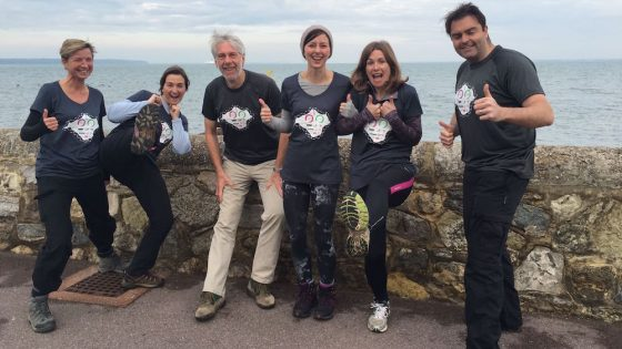 The Crescendo team on their charity walk