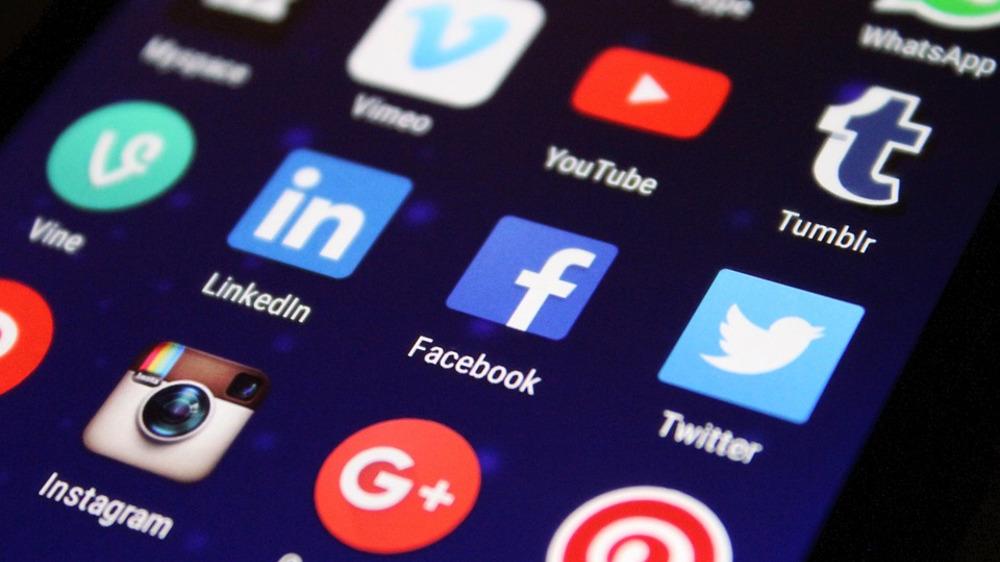 Social media on a mobile