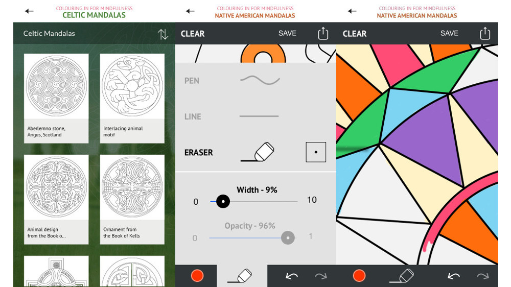 World Mandalas app on iPhone