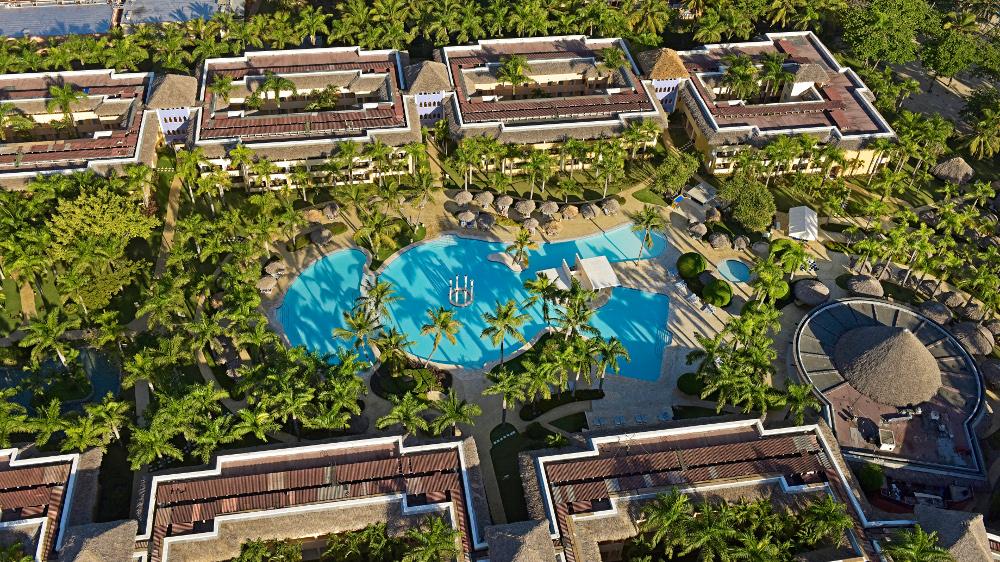 Aerial view of the IBEROSTAR Costa Dorada in the Dominican Republic
