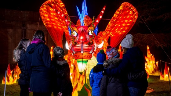 Fire dragon at Longleat's Festival of Light 2017 (2000x1333)