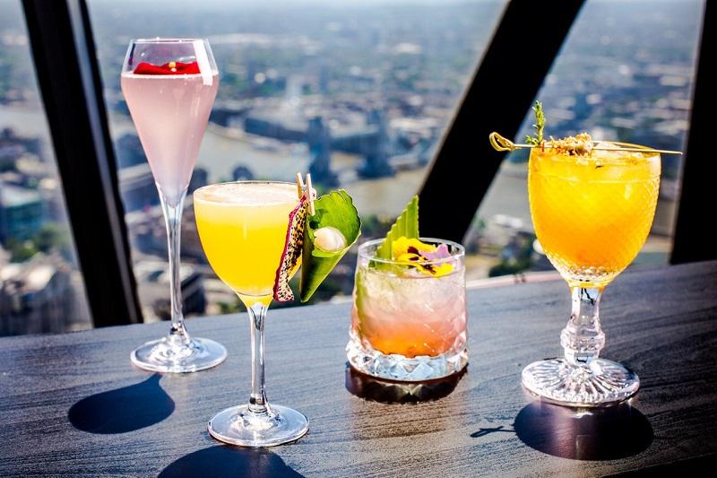 Gherkin cocktails