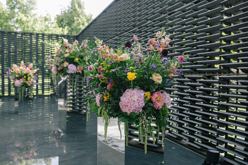 Serpentine Gallery - Lavender Green Flowers