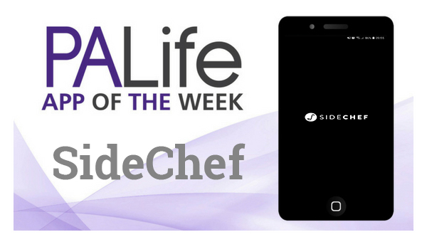 Phone with SideChef app logo