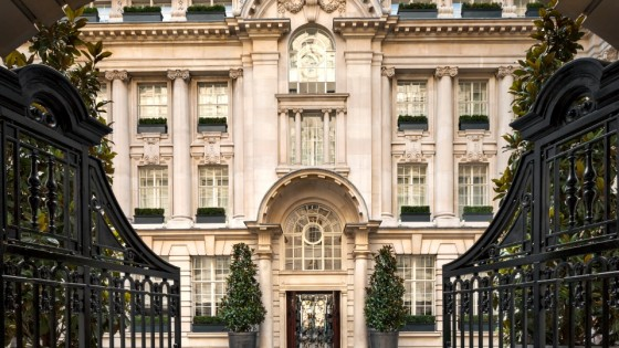 Rosewood London gates in