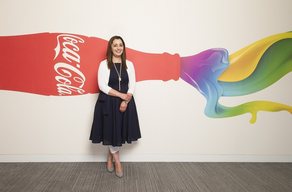 Samina Azam EA at Coca Cola, Uxbridge, Middx. shot for PA Life. 15/6/18