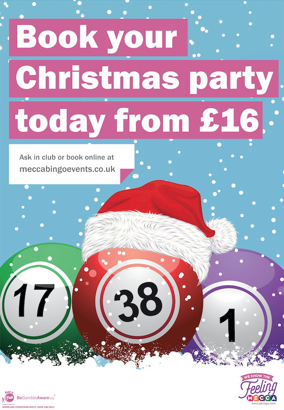 Mecca Bingo Christmas poster