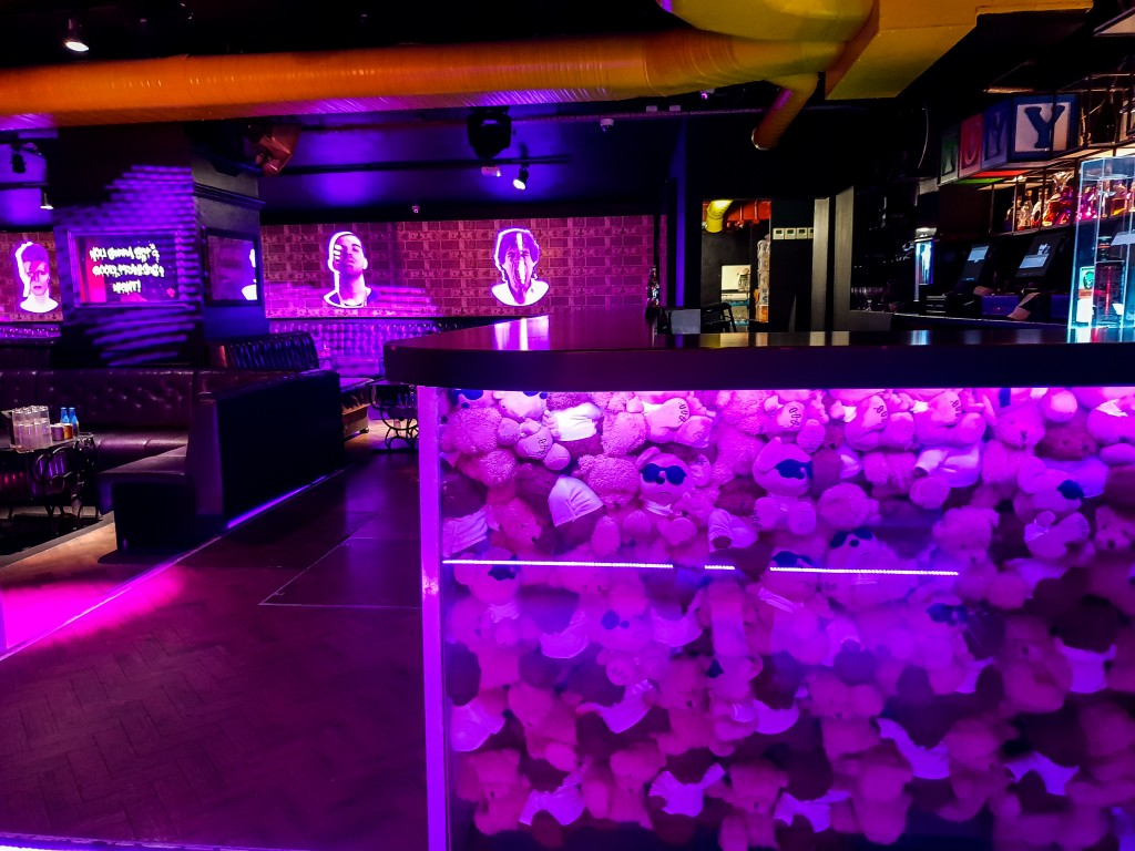 Main room bar filled with teddy bears - Toy Room