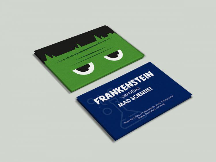 Frankenstein business card