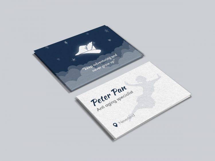 Peter Pan business card
