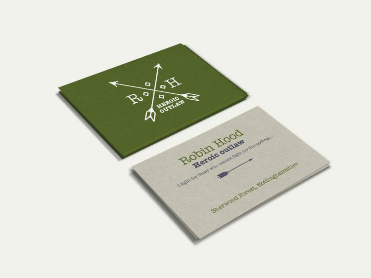 Robin Hood business card