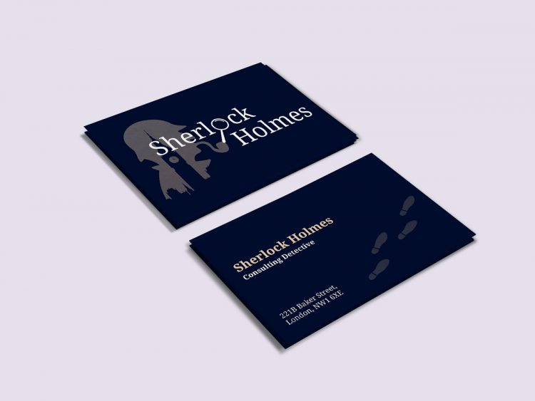 Sherlock Holmes business card