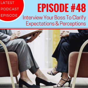 #48 - How To Interview Your Boss To Clarify Expectations & Perceptions Read more at http://beingindispensable.libsyn.com/48-how-to-interview-your-boss#1ScAp5OBrqAj0HcI.99