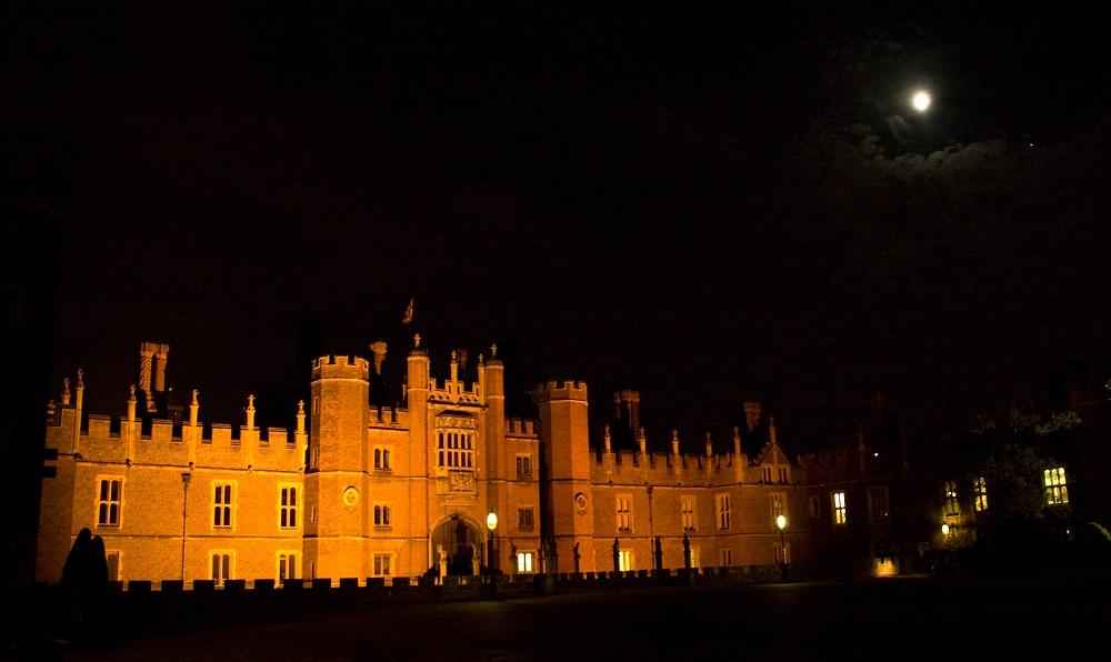 Hampton Court Palace at night (c) Historic Royal Palaces