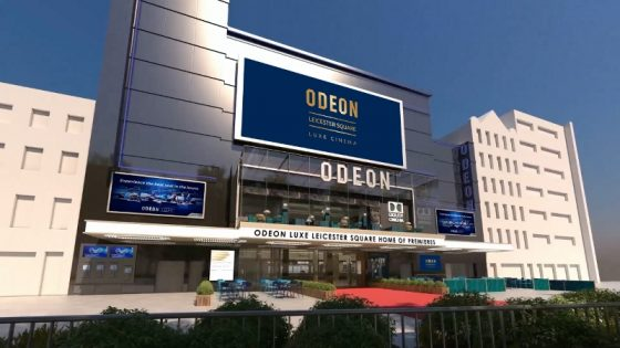 Artist's impression of Europe's most famous cinema, London's ODEON Leicester Square, which is to reopen this Christmas following an 11 month, multi million pound Luxe refurbishment. The reborn and lovingly restored ODEON Luxe Leicester Square cinema will be home to the UK's first Dolby Cinema experience, boasting VIP Luxe comfort with 800 luxury seats, ornate new interior, plus restored heritage features and new glass-fronted Oscar's cocktail bar, creating the world's most sophisticated cinema for Hollywood stars and film fans.