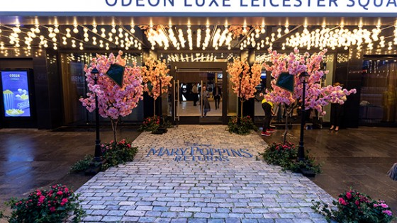 Odeon Luxe Leicester Square – designed to look fancy with Mary Poppins costume