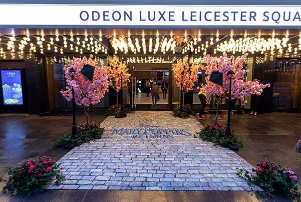 Odeon Luxe Leicester Square –designed to look fancy with Mary Poppins costume
