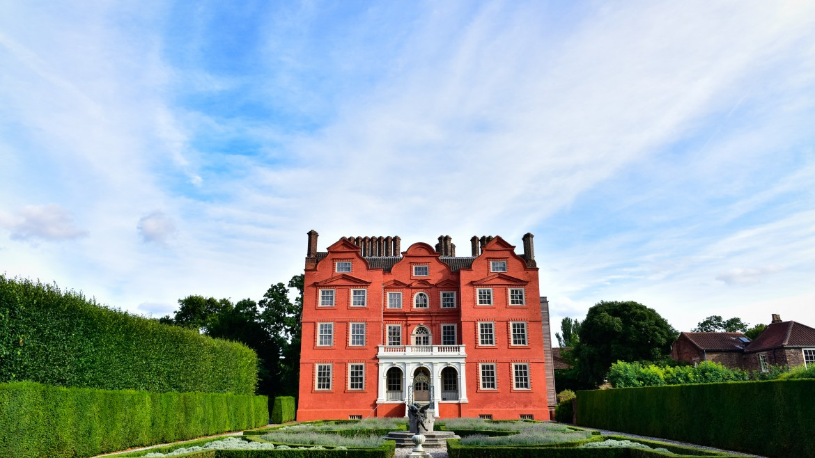 Promo event at Kew Palace - Savour the Sights of Kew. Exterior photograph of the palace from the Queen's Garden