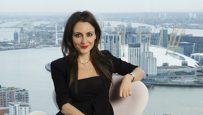 Elizabeth Mendes Da Silva shot for PA Life Magazine. PA at Barclays, Churchill Place, London. E14 5HP. 31/10/17